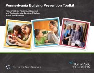 Pennsylvania Bullying Prevention Toolkit - Baltimore City Public ...