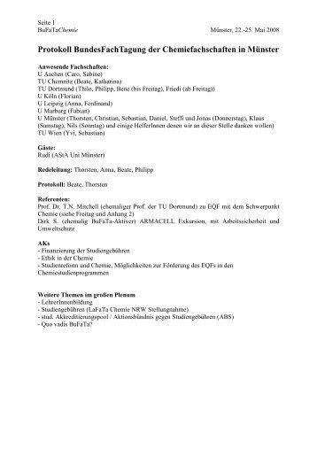 vorlaeufiges PDF-Protokoll - BuFaTa Chemie