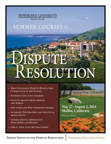 Summer Brochure - Pepperdine University School of Law