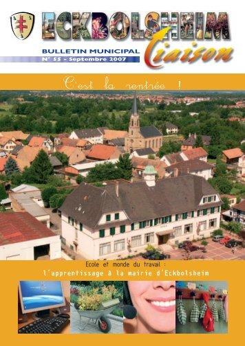 Septembre 2007 - Site officiel de la Mairie d'Eckbolsheim - Ville d ...