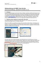 Bildbearbeitung mit GIMP: Erste Schritte Eine kurze Anleitung ...
