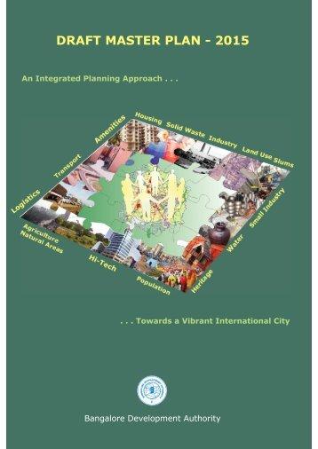 DRAFT MASTER PLAN - 2015 - Bangalore Development Authority
