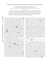 Spin ordering quantum transitions of superconductors in a magnetic ...