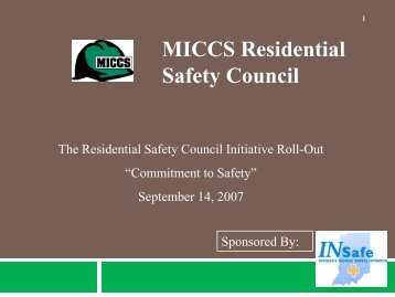 MICCS Residential Safety Council