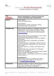 Klinisk retningslinje for lindring af dyspnøe hos voksne uhelbredeligt ...