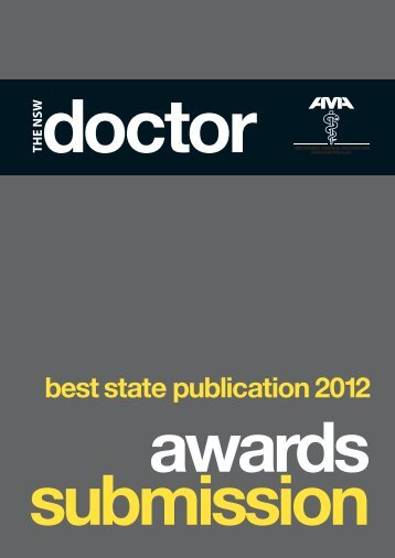 best state publication 2012 - Australian Medical Association NSW