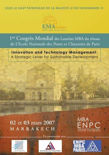 Objectifs du Congrès Mondial ENPC MBA - All in web
