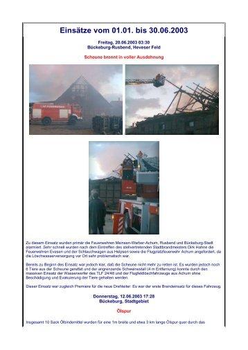 1. Halbjahr - Freiwillige Feuerwehr Bückeburg-Stadt