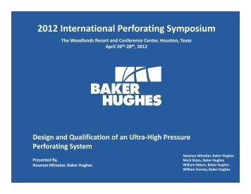 2012 International Perforating Symposium - Perforators.org