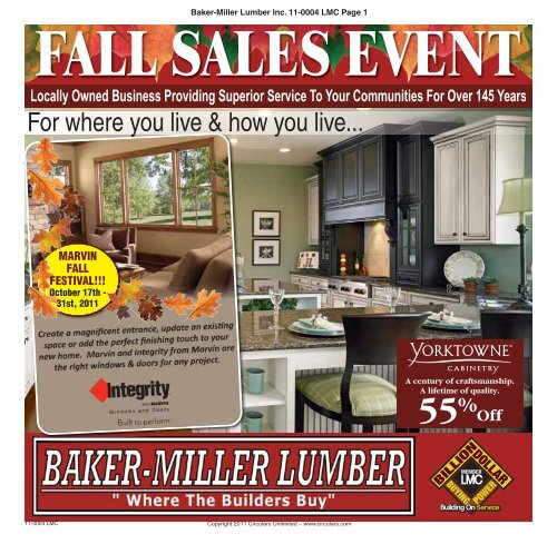 For where you live & how you live... - Baker-Miller Lumber