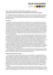 Erklärung der Kommunen an die internationale ... - Klimastaffel 2004