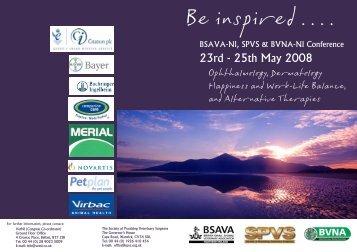 Be Inspired - British Veterinary Nursing Association