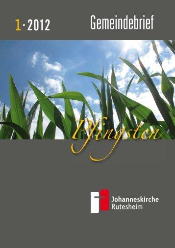 PDF, 820 KB - Evangelische Kirchengemeinde Johanneskirche ...