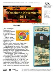 October / November 2011 - Bullitt County Cooperative Extension ...