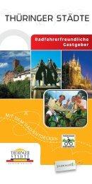 Radfahrerfreundliche Gastgeber - Thüringer Städtekette