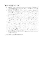 Zasady przepisywania ocen na WZiE: • Na II stopniu studiów nie ...