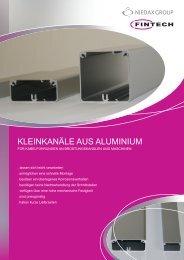 kleinkanäle aus aluminium