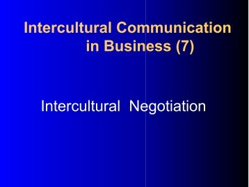 Intercultural Communication in Business