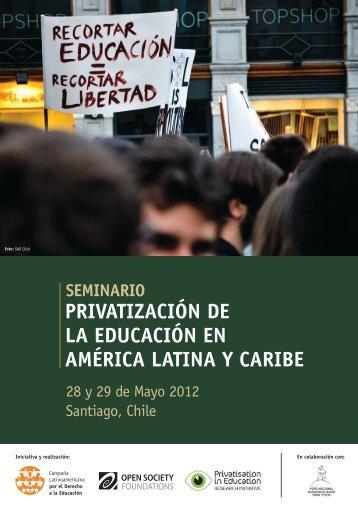 Privatización de la educación en américa latina y caribe - Global ...
