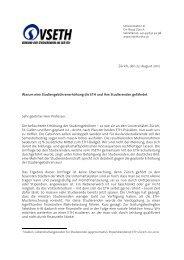 Brief an die Professoren - VSETH - ETH Zürich