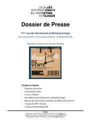 Dossier de Presse - Journée Internationale du Marketing Horloger