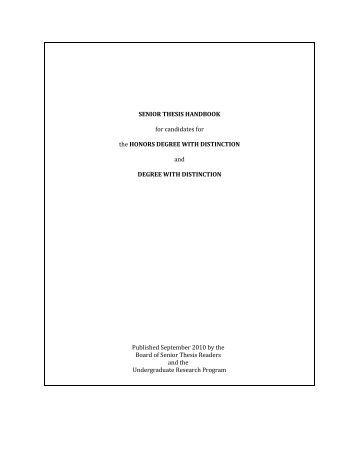 Thesis handbook