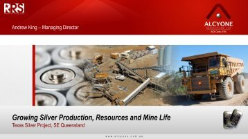 Investor Presentation - Alcyone Resources