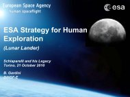 ESA Strategy for Human Exploration