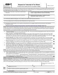 REQUEST FOR TRANSCRIPT OF TAX RETURN- Form 4506-T (Rev