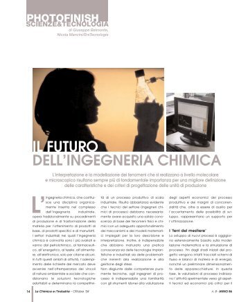 IL FUTURO DELL'INGEGNERIA CHIMICA - Promedianet.it