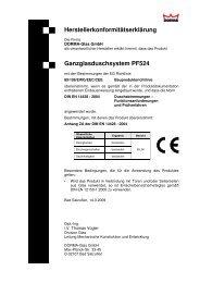 Herstellerkonformitätserklärungen PF524 - DORMA Interior Glas