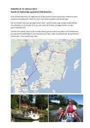 Klubaften d. 25. februar 2013 Rundt om Sydsverige og gennem ...