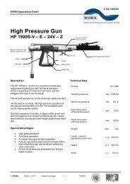 High Pressure Gun - HP 1500-V-E-24V-Z - Woma