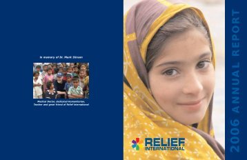 2006 Annual Report (PDF) - Relief International