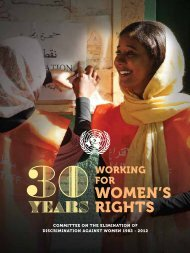30 years working for Women's Rights - Office of the High ...