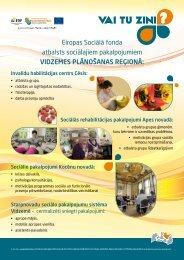Eiropas Sociālā fonda atbalsts sociālajiem pakalpojumiem ...