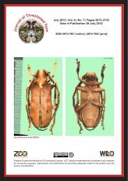 Contents old.pdf - Journal of Threatened Taxa