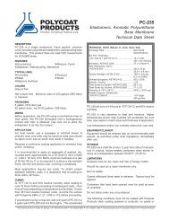 PC-235 - Polycoat Products