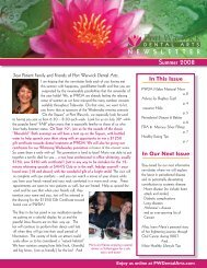 newsletter summer 08.indd - Port Warwick Dental Arts