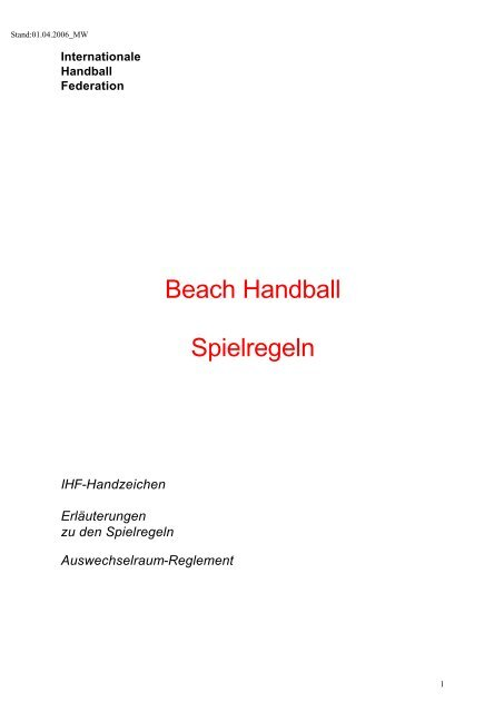 Spielregeln Handball