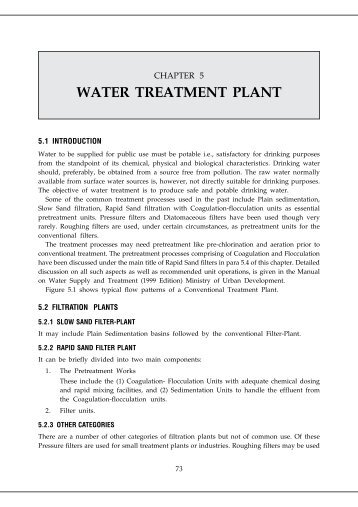 WATER TREATMENT PLANT - Ministry of Urban Development