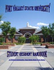 Student Resident Handbook 2012 - Fort Valley State University