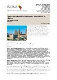Saint-Jacques-de-Compostelle : capitale de la Galice - Arts et Vie