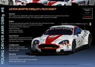 Technical Sheet - Aston Martin