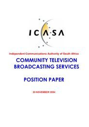 community television broadcasting services position paper - MDDA