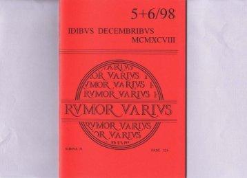 Page 1 5 6/98 IDIBVS DECENIBRIBVS MCMXCVIII  J v.//\\IrÄ/Vo ...