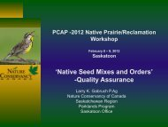 Native Seed Mixes and Orders – Quality Assurance - Workshop Lead