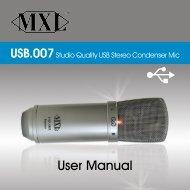 User Manual - MXL