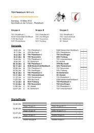 Spielplan E-Jugend - TSV Pfedelbach