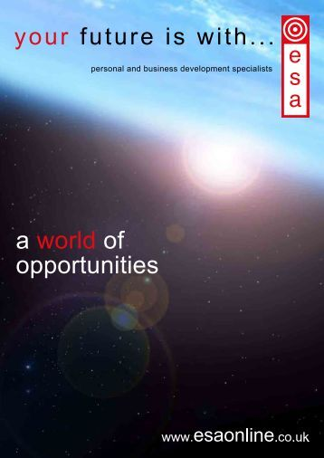 Downloadable PDF - ESA Business Development Ltd